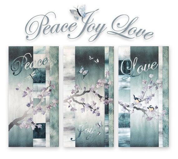 Hoffman Fabrics - Peace Joy Love Triptych Kit - MRPJL-541-Peace