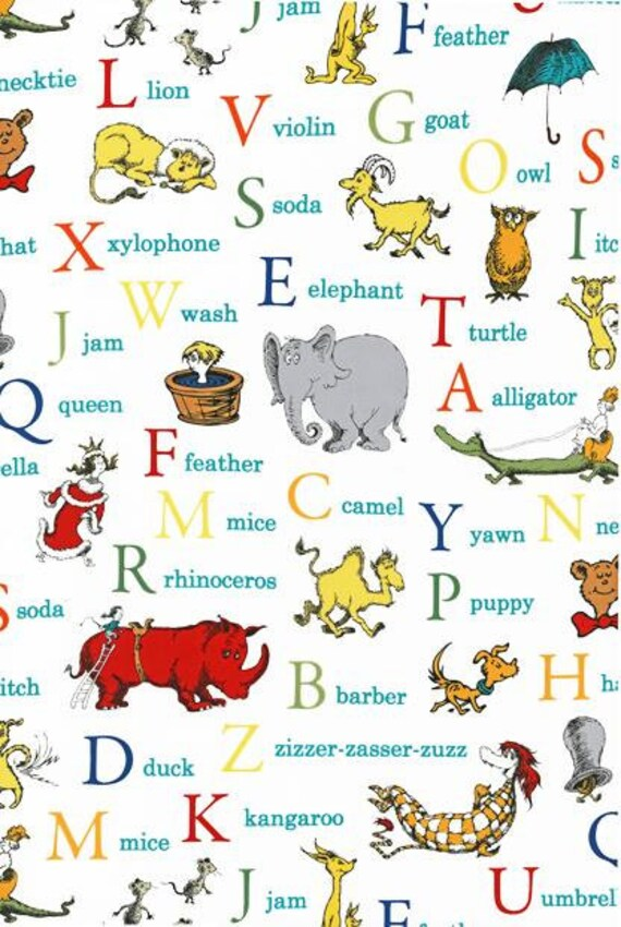Dr Seuss ABC Adventure Tossed Alphabet
