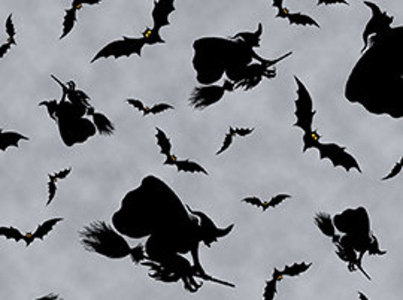 Quilting Treasures 'Witches Brew Haha' Gray 567 Fabric