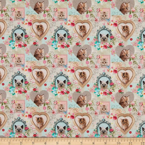 LeQuilt STOF France Cute Kittens Animo Fabric Collection