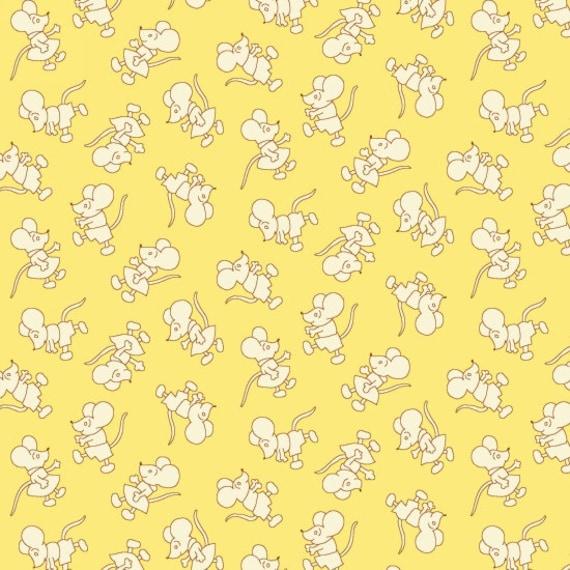 Nana Mae II Mouse Toss  Fabric By Henry Glass & Co