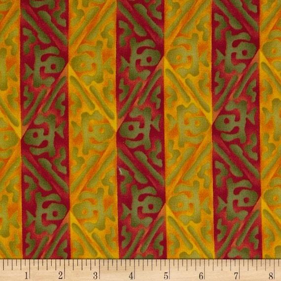Michael Miller Fabrics - Tiki Woodblock 743