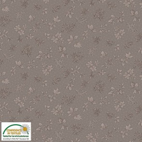 Juliet l Roses Cocoa Tonal Fabric by STOF