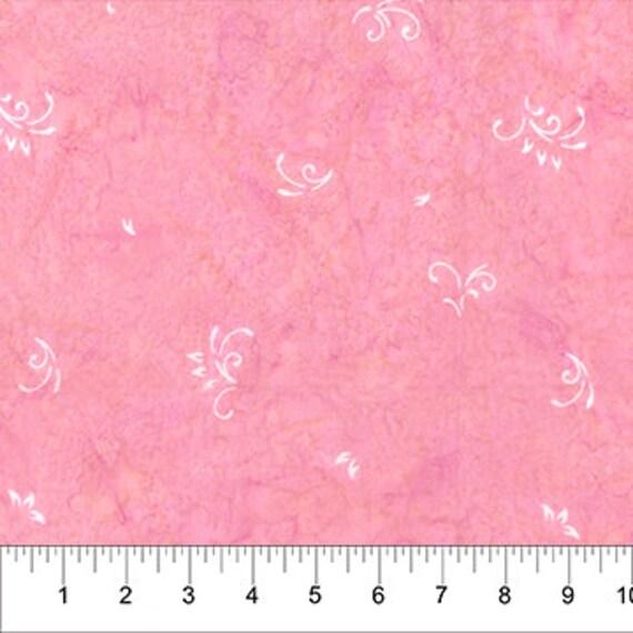 Banyan Batiks Intaglio Pink Hibiscus Fabric Collection