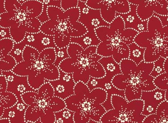 Red Rooster Bed of Roses Fabric 4642