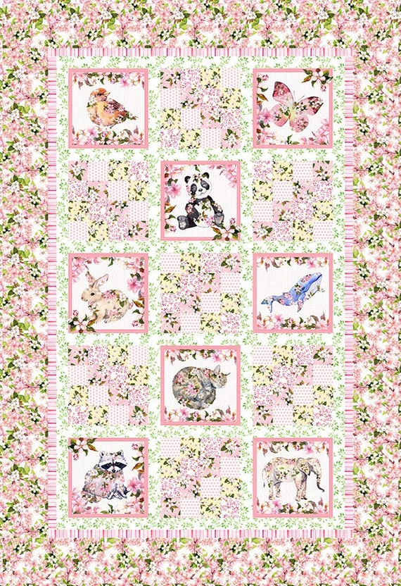 Pretty in Pink Quilt Kit by In the Beginning Fabrics