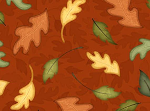 Quilting Treasures Harvest Fare Fabric in Rust 543