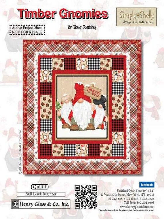 Timber Gnomies Flannel Quilt Kit by Shelly Comiskey