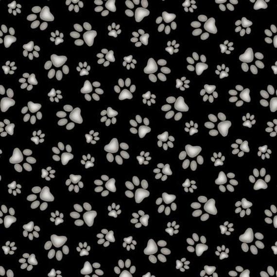 Paw Print Fabric by Elizabeth Studio