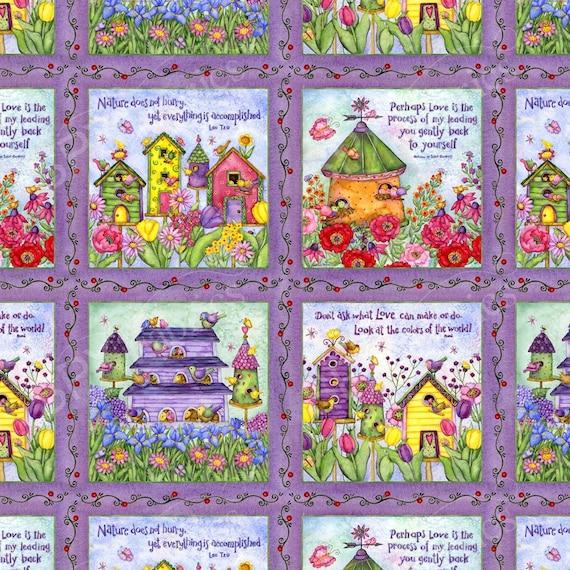 SPX Fabrics Birdhouse Gardens Fabric  623
