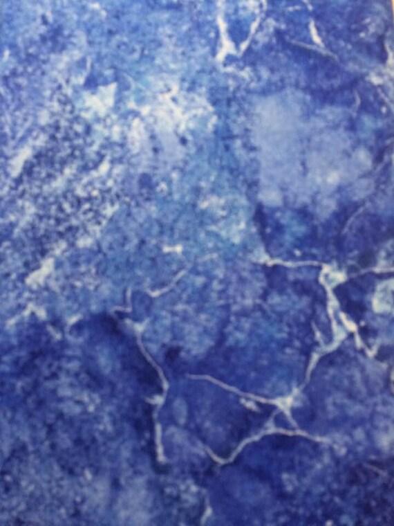 Northcott Stonehenge  Blue white & lt Blue Marble Fabric