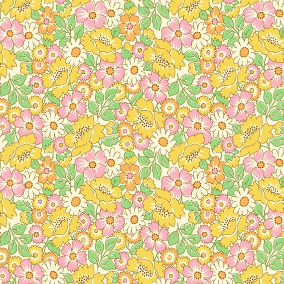 Nana Mae II Packed Floral Fabric By Henry Glass & Co
