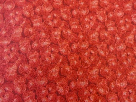 Red w/Red Circle Swirls Fabric 331