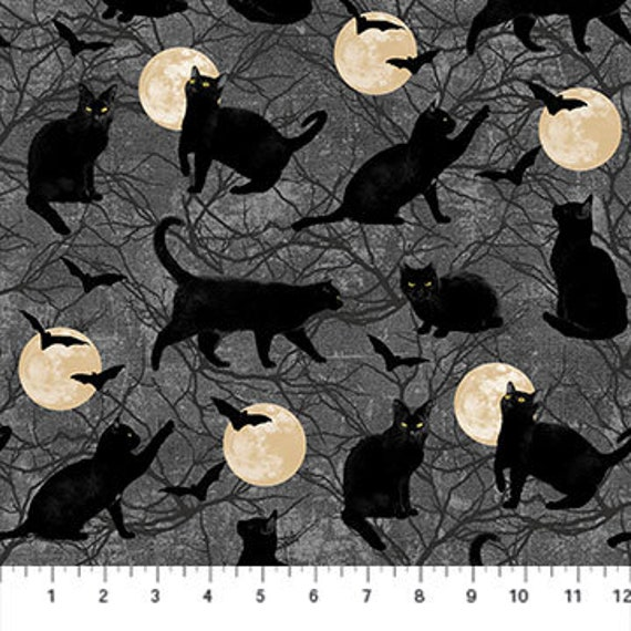 Northcott Black Cat Capers Fabric Collection