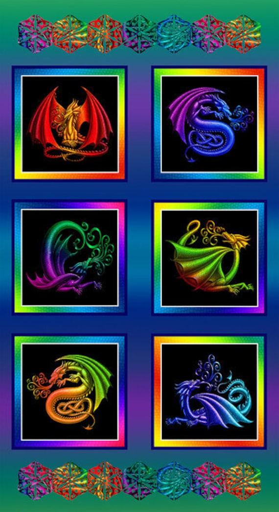 Studio E Fabrics Rainbow Dragon Collection