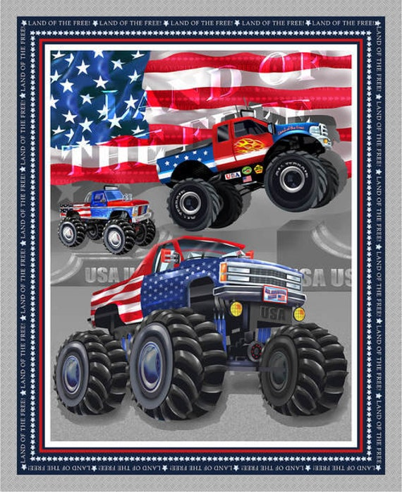American Truckers Fabric by Henry Glass