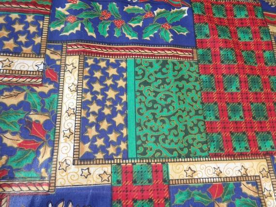 Christmas Block Pattern Fabric  261