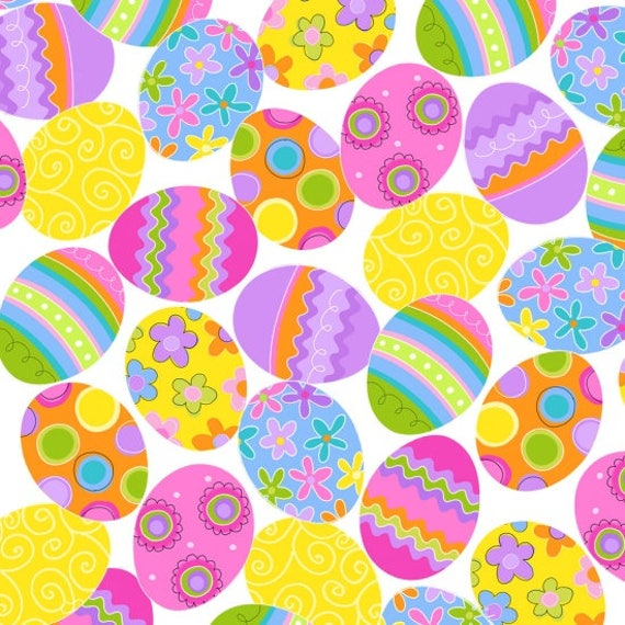 Spring Has Sprung Easter Egg Fabric by Studio E
