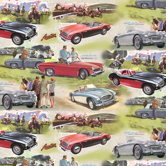 Michael Miller Austin Healey Fabric Collection