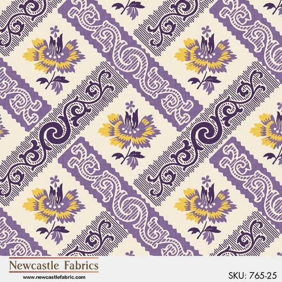 Newcastle Fabrics New Orleans Coordinates in Purple 307