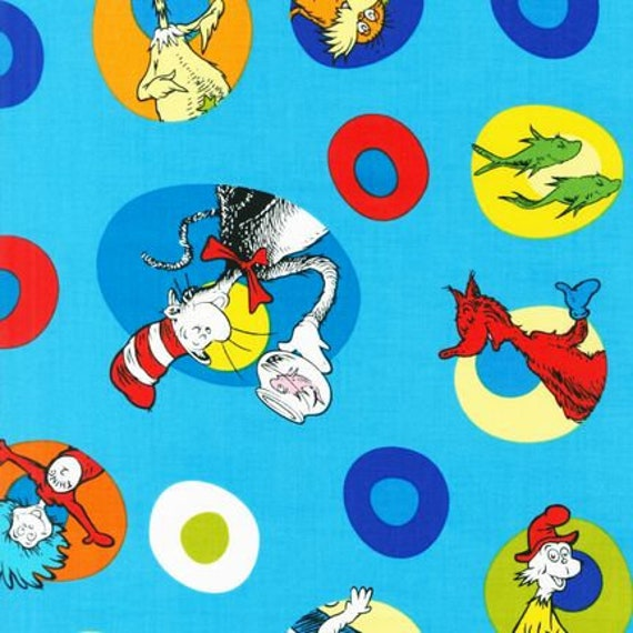 Robert Kaufman Dr Seuss Fabric Celebrate Seuss