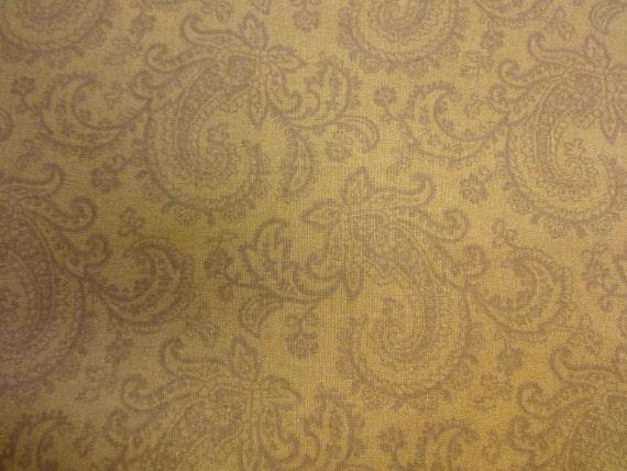 General Fabrics Brown w/Dark Brown Paisley  174