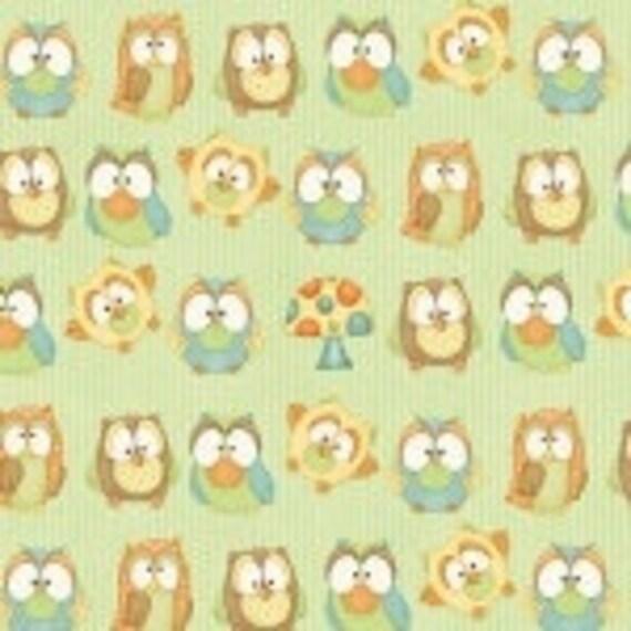 Henry Glass Hoot Hoot Hurray Fabric   6503