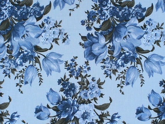 Choice Fabrics Elegant Blooms Blue Fabric Collection