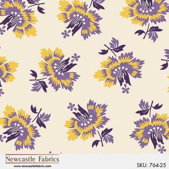 Newcastle Fabrics New Orleans Coordinates in Purple  Fabric 306