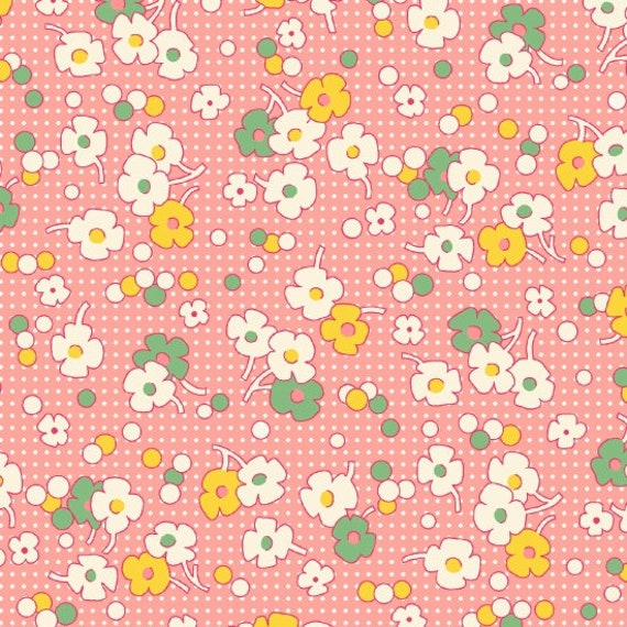 Nana Mae II Floral Dot Fabric By Henry Glass & Co