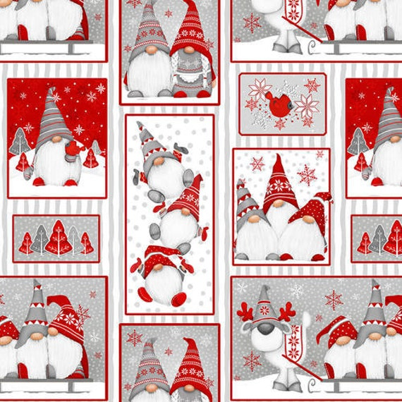 Henry Glass Winter Whimsy Gnomes Flannel Fabric Collection