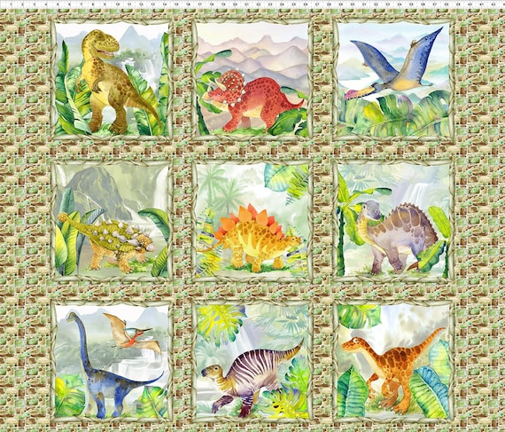In the Beginning Fabrics Dinosaur Friends Fabric Collection