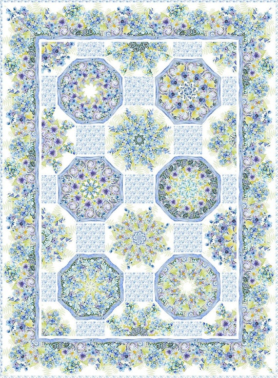 Leah Collection One-Fabric Kaleidoscope Quilt
