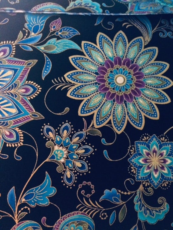 Eden Teal, Blue Floral fabric