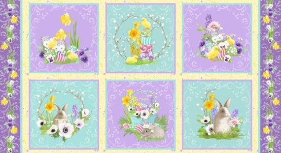 Hoppy Easter Block Panel  by Blank Quilting