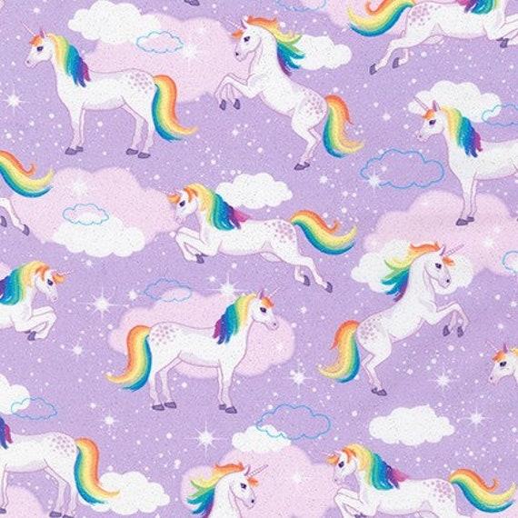 Robert Kaufman Enchanted Rainbow Fabric Collection