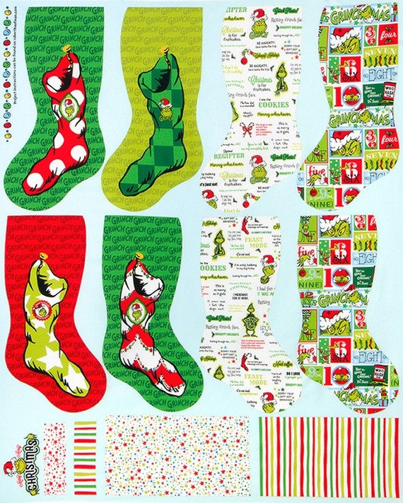 Robert Kaufman How the Grinch Stole Christmas Fabric Collection