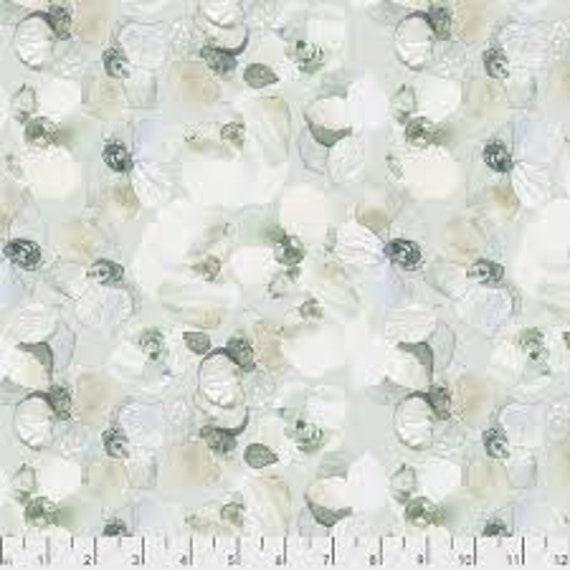 Free Spirit Fabrics Shell Rummel Lt Green Collection