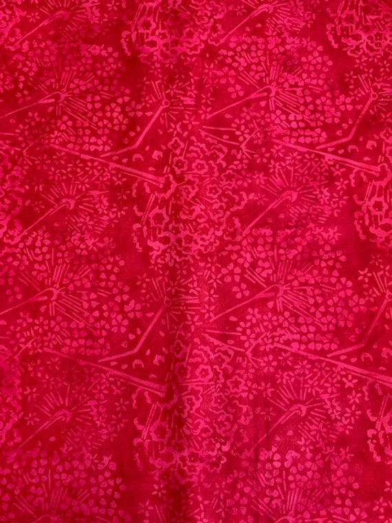 Batik by Mirah Fabric Red Collection