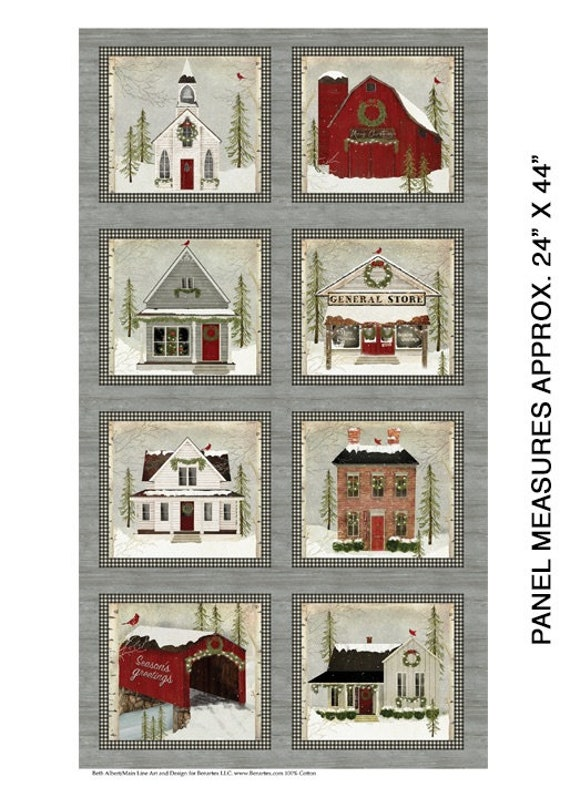 Benartex Snow Village Fabric Collection