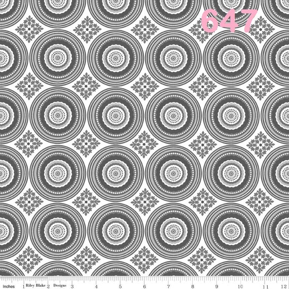 Riley Blake Fabrics Parisian - Circles & Flowers Fabric