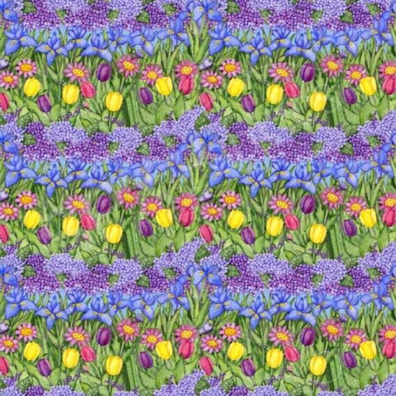 SPX Fabrics Birdhouse Gardens Fabric 621