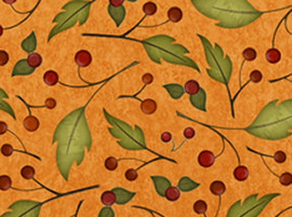 Quilting Treasures Harvest Fare Fabric in Pumpkin Fabric 541