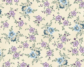 Twilight Garden Small Floral Calico  By Henry Glass & Co
