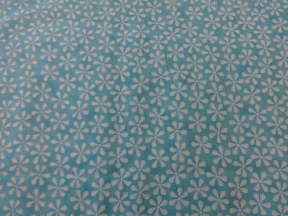 Teal w/White Flowers Fabric 314