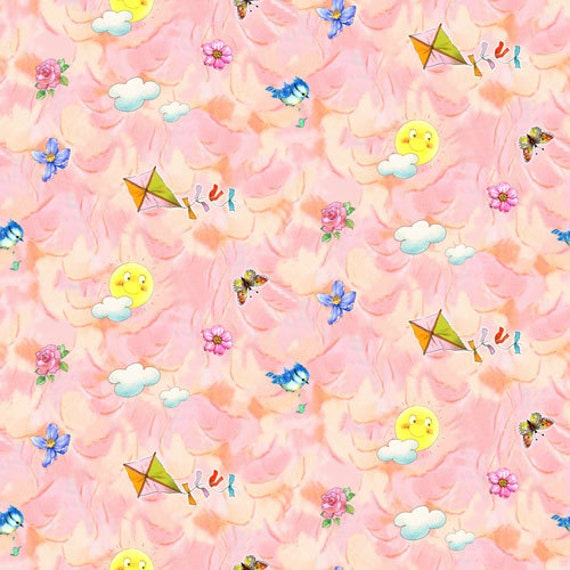 SPX Fabrics Best Friends Coordinates in Pink Fabric  122