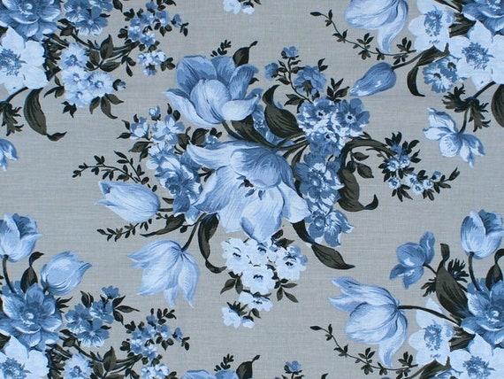 Choice Fabrics Elegant Blooms Gray Fabric Collection