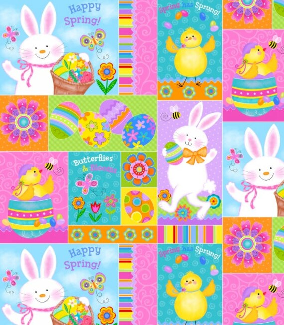Spring Has Sprung Patchwork Fabric by Studio E