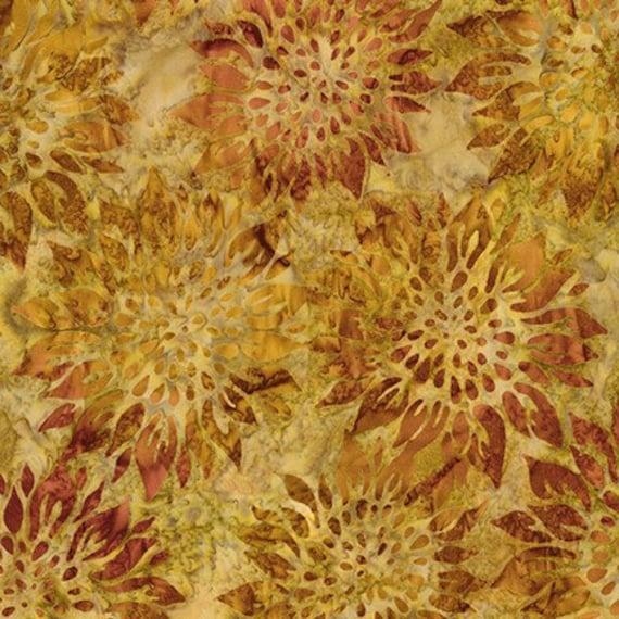 Robert Kaufman  Batiks Summer Flowers Sunflower Fabric
