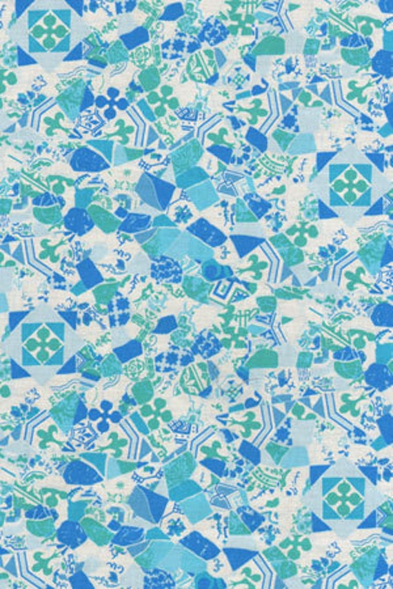 Riverwood Collection Barcelona Sea glass Fabric by Bethany Reynolds 148